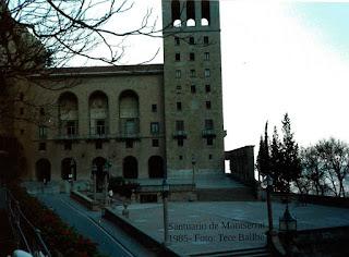 Monasterio de Montserrat 1985. Torre del santuario