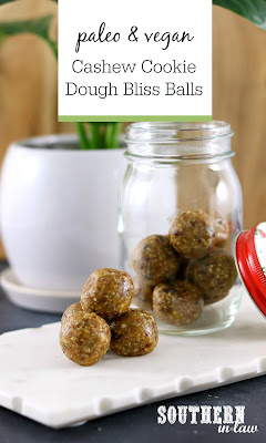 Cashew Cookie Dough Bliss Balls Recipe