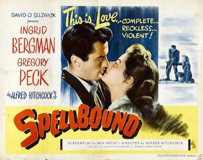 Recuerda (Spellbound) 1945 de Alfred Hitchcock -poster
