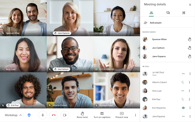 Virtually raise your hand to ask a question in Google Meet 1