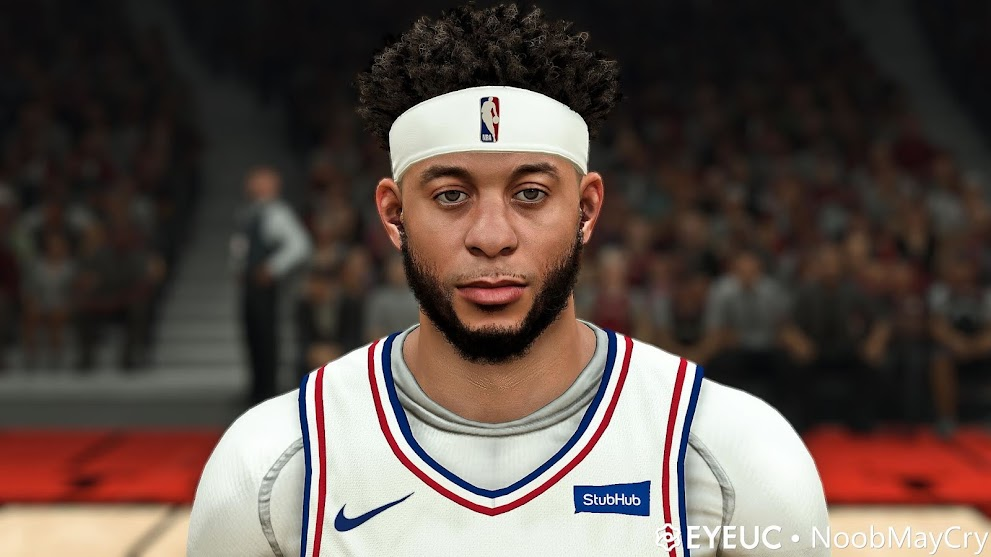 Seth Curry Cyberface, Hair and Body Model By Noobmaycry [FOR 2K21]