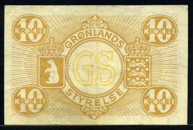 World Money Greenland Krone banknote bill
