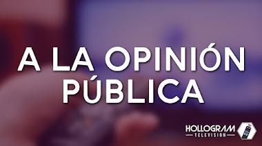 Hollogram Television a la opinión pública