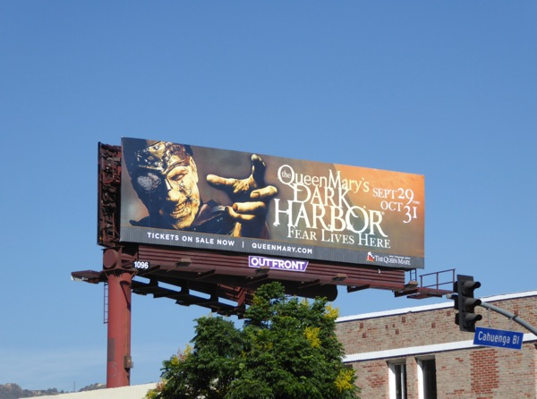 Queen Marys Dark Harbor 2016 Halloween billboard