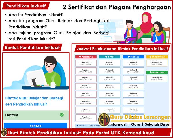 Apa Itu Pendidikan Inklusif? Ikuti Bimtek Pendidikan Inklusif Pada Portal GTK Kemendikbud, 2 Sertifikat dan Piagam Penghargaan