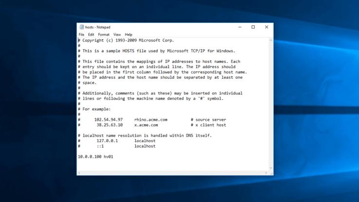 كيفية تحرير ملف الـ Hosts في يوندوز 10