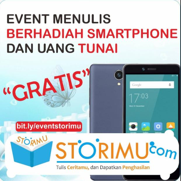Peluang Menulis Cerita 2019 di Storimu.com, Hadiah HP