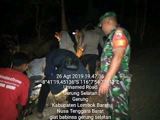 Satgas Karhutla Lobar Kecamatan Gerung Sigap Padamkan Kebakaran Bukit Menang