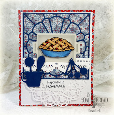 Our Daily Bread Designs Stamp Set: Homemade Pie, Our Daily Bread Designs Custom Dies: Baking Tools, Dresden Quilt, Beautiful Borders, Doily, Our Daily Bread Designs Paepr Collection: American Quilt