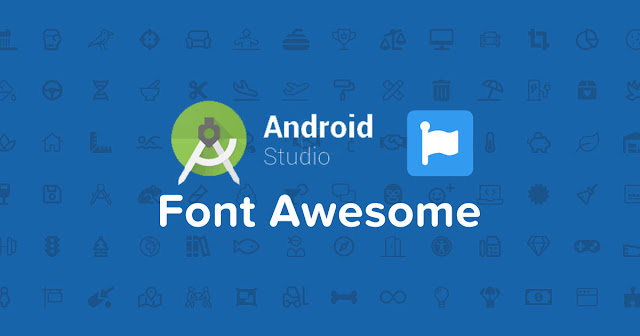 Android Studio Font Awesome