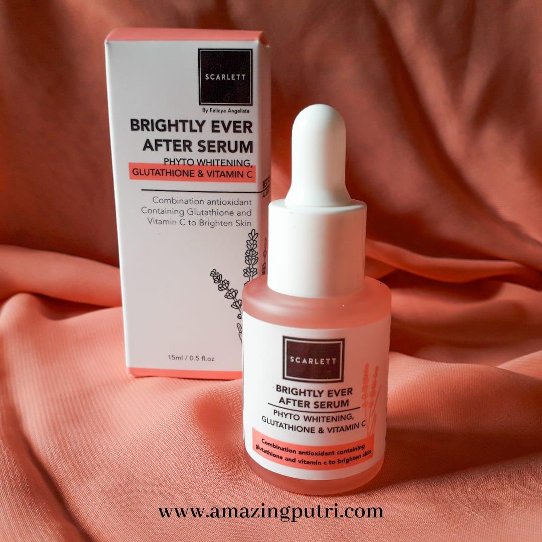 Review Serum Scarlett Whitening: Acne Serum dan Brightly Ever After Serum