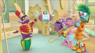 Abby Cadabby, Blögg, Gonnigan, Morty the Musical Muse, Abby's Flying Fairy School Fairy Face the Music, Sesame Street Episode 4326 Great Vibrations season 43