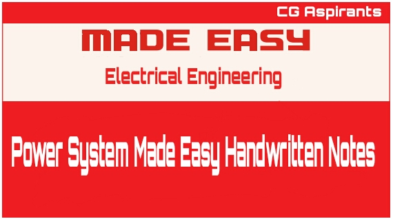 Power System Made Easy Handwritten Notes