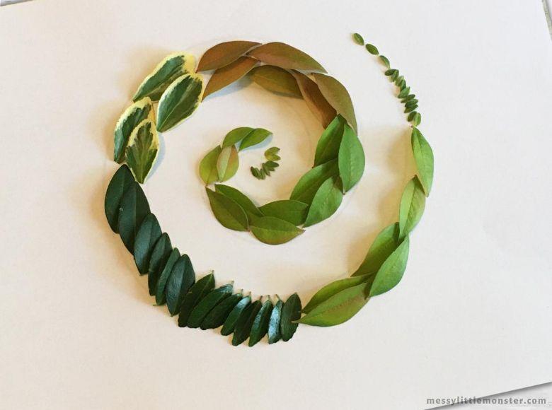 Andy Goldsworthy leaf craft for kids