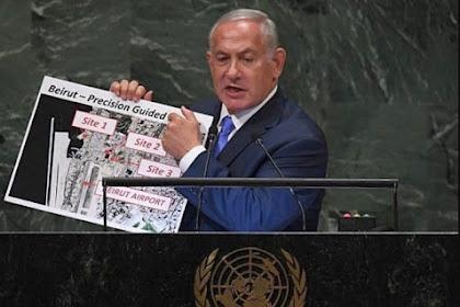 Terungkap! Tahun 2018 Netanyahu Pernah Perlihatkan Peta Beirut dan Tudingan Nuklir di Sidang PBB , Israel Dalang Ledakan?