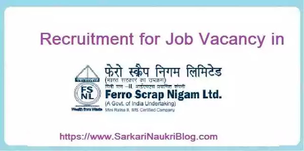 Ferro Scrap Limited Vacancies