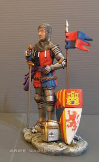 modellino uomo con armatura statuette personalizzate guerrieri fantasy milano orme magiche