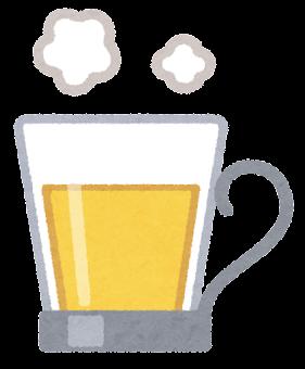 ウイスキーのイラスト(お湯割り)