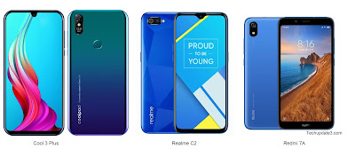 Coolpad Cool 3 Plus vs Realme C2 vs Redmi 7A