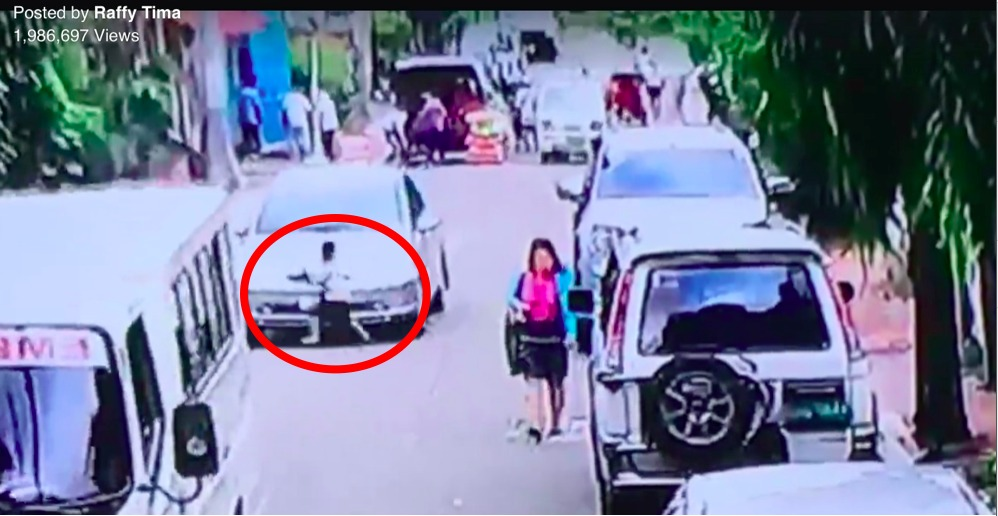 CCTV footage of a young boy ran over by a car along a street in QC goes viral