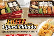 Promo Hokben Gratis 1 Porsi Ekkado Periode 25 - 28 Maret 2020