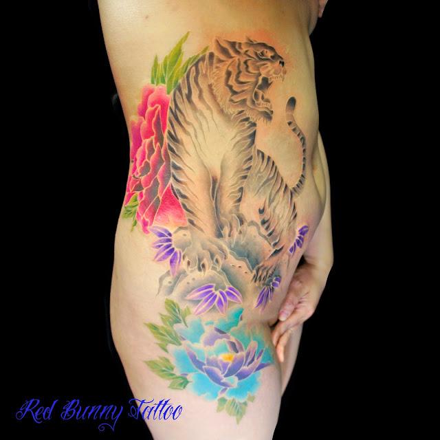 虎 牡丹 刺青 タトゥー TATTOO