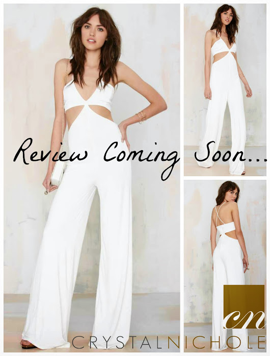 Dressing Sucks  (how to Deal With It): Review Coming Soon... White Cutout Jumpsuit...