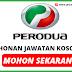 Minima SPM Boleh Mohon ! ~ Jawatan Kosong Perodua 2020 Dibuka