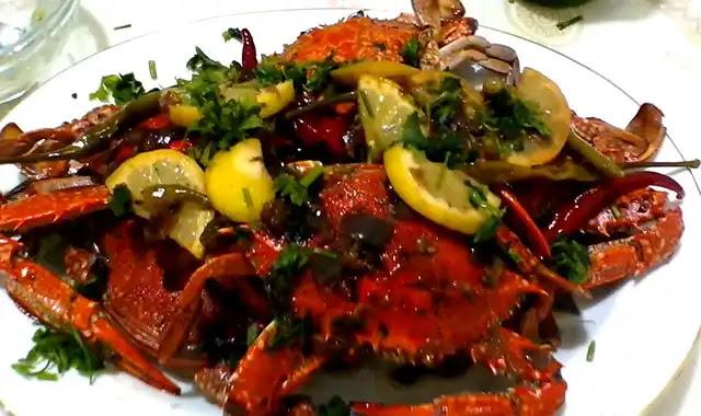 crabe à la mrinière