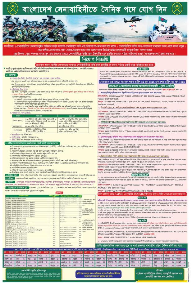 Bangladesh Army Job Circular 2019 Joinbangladesharmy.army.mil.bd  bdjobss