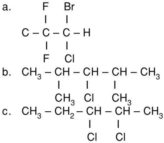 Tuliskan Rumus Struktur Dari Senyawa Haloalkana Berikut A 2 Bromo 2 Kloro 1 1 Difluoro Etana Mas Dayat