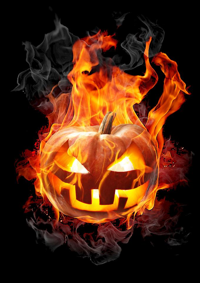pumpkin burning fire, Jack-o'-lantern Halloween Pumpkin Flame, Burning pumpkin, orange, festive Elements png by: pngkh.com