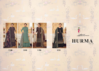 Eba lifeStyle Hurma Vol 28 Wedding Special Salwar Kameez CollectionEba lifeStyle Hurma Vol 28 Wedding Special Salwar Kameez Collection