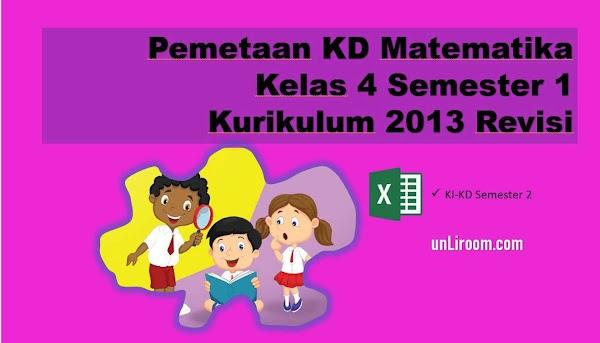 Pemetaan KD Matematika Kelas 4 Semester 2 Kurikulum 2013 Revisi 2018