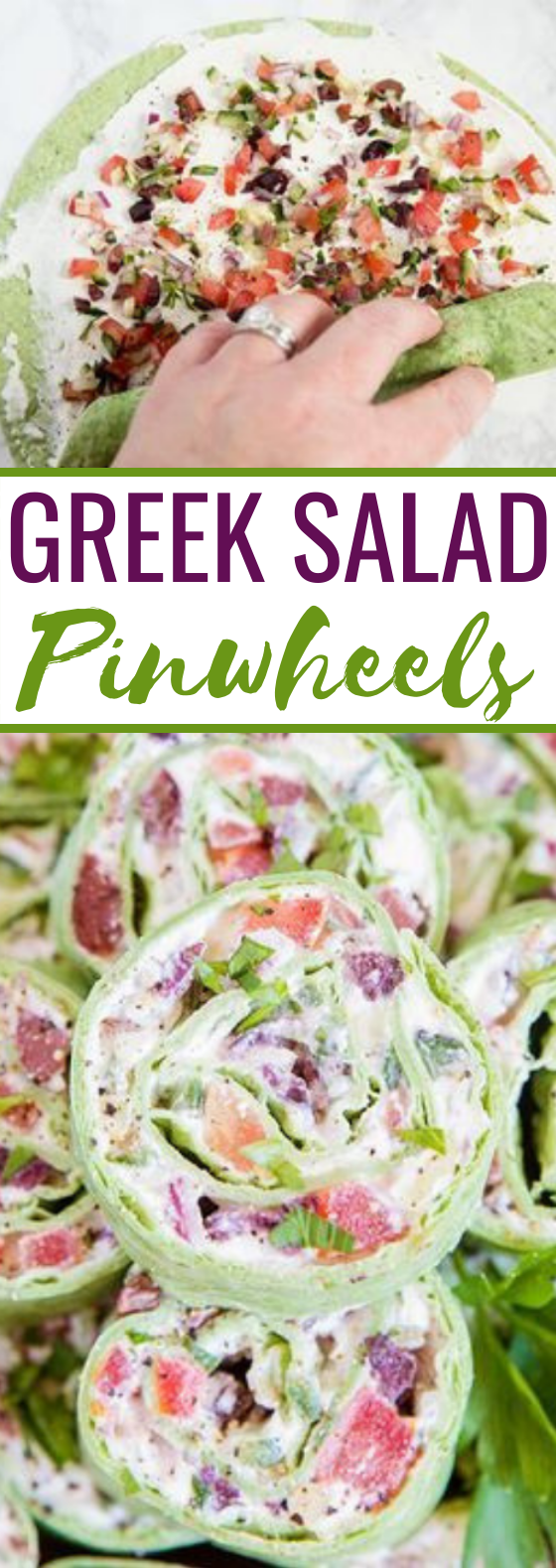 Greek Salad Pinwheels #healthy #lunch #keto #appetizers #mealprep