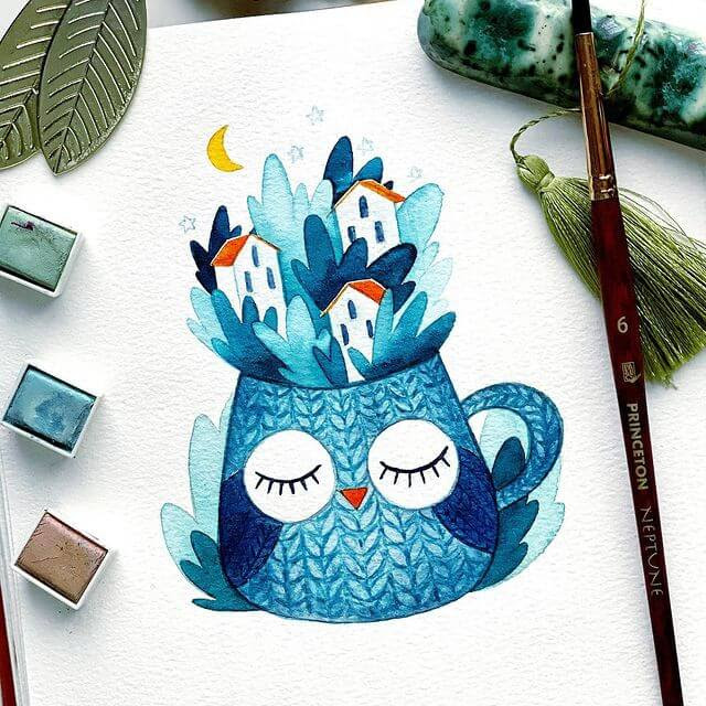 11-Owl-town-Natalia-Nazarian-www-designstack-co