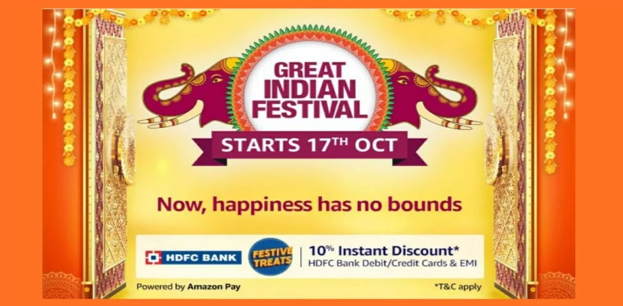 Amazon Great Indian Festival Sale Starts 17th October