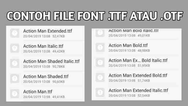 file font ttf otf