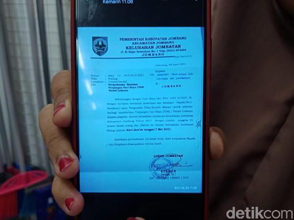 Viral Lurah di Jombang Minta THR ke Pengusaha Toko dan Rumah Makan