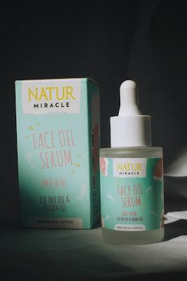 review natur face oil serum anti acne