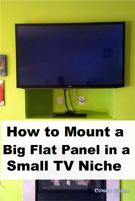 how to hang big flat panel tv in a small over the fireplace tv nook