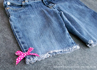 easy cutoff shorts with bow