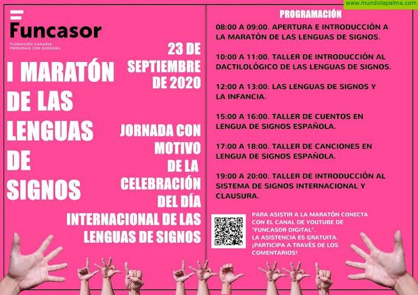 Celebración del Día Internacional de Las Lenguas de Signos. I Maratón de Las Lenguas de Signos