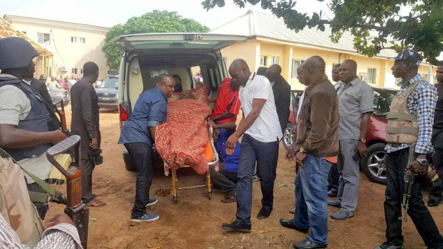 Dino Melaye arrives Lokoja court in ambulance