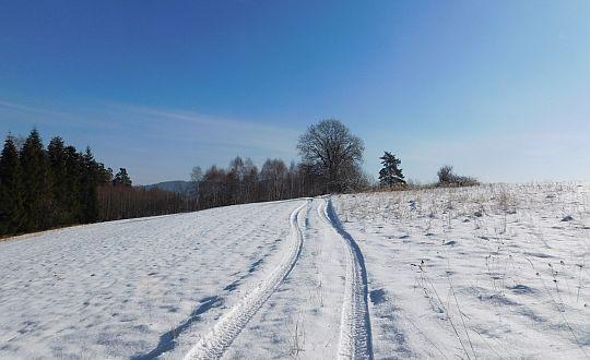 Droga na bezimienny wierzchołek w masywie Piątkowej.