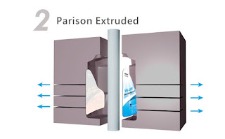 synthetic pp paper Parison extruded
