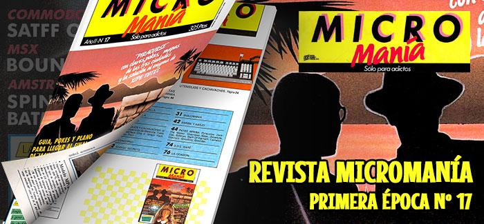 Revista Micromanía Primera época Número 17 1986