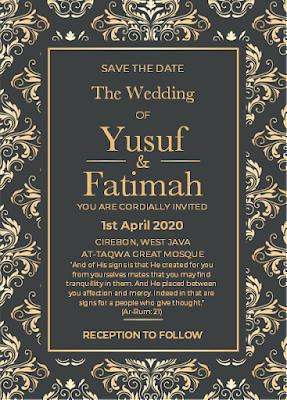 contoh undangan pernikahan dalam bahasa inggris islam
