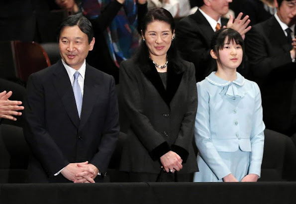 "Crown Prince Naruhito of Japan, his wife Crown Princess Masako and their children Princess Aiko attended the premier of the movie ""Everest: The Summit of the Gods"""