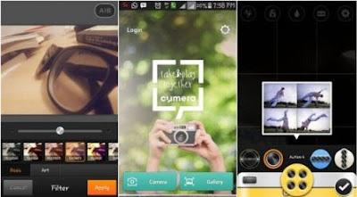 cymera aplikasi kamera android terbaik